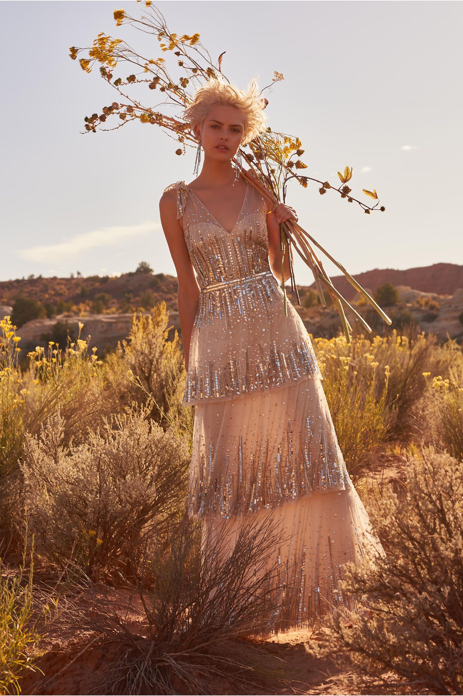 Bhldn woodsen gown champagne in occasion dresses bhldn fantasy