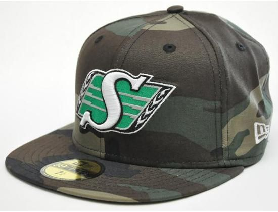 Saskatchewan Roughriders Camo 59Fifty Fitted Cap by NEW ERA x CFL ... 93ae46e73b2
