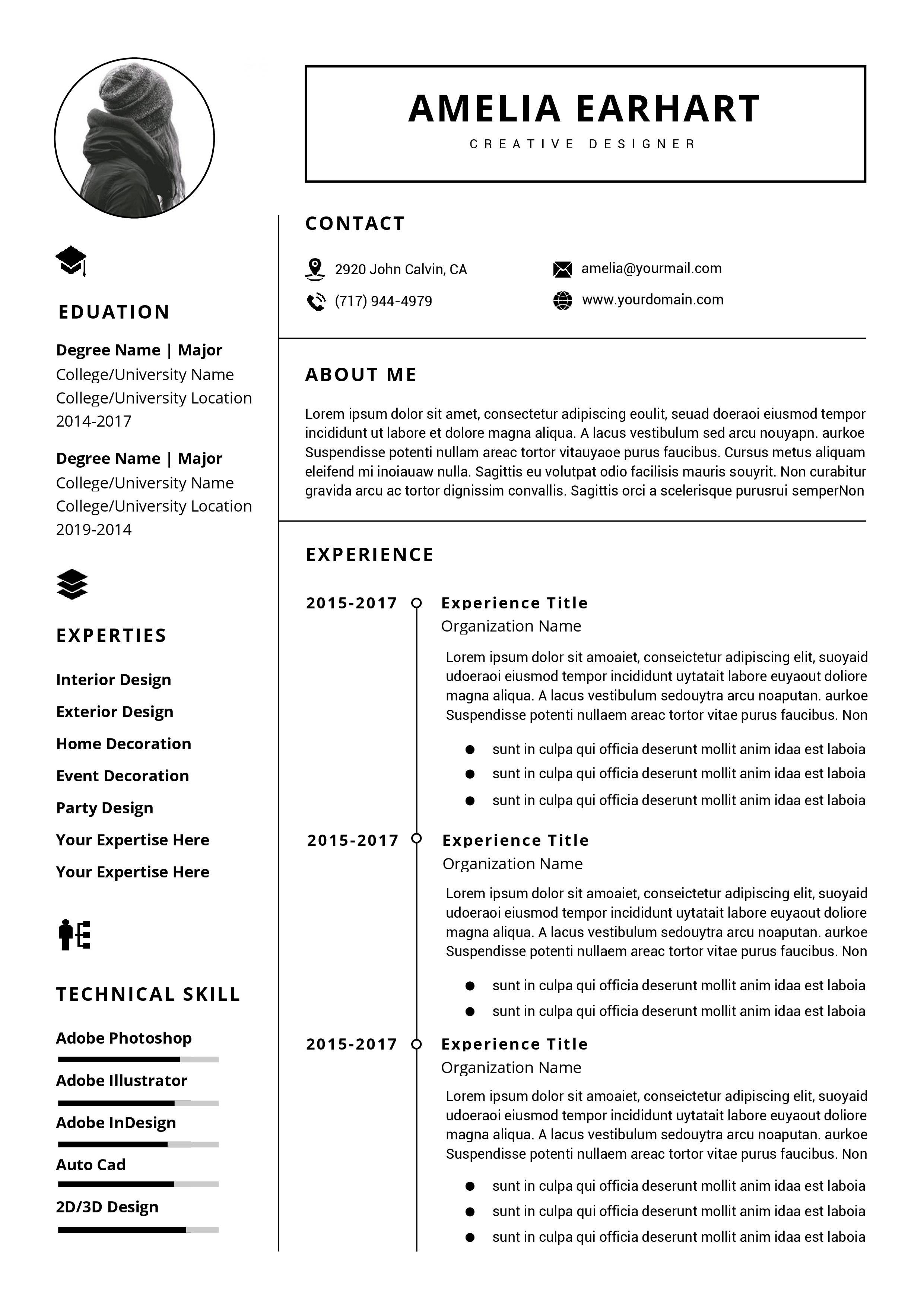 Check Out My Behance Project Resume Template Instant Download Professional Resume Https Www Behance Net Gallery 78442873 Resume Template Instant Do Resume