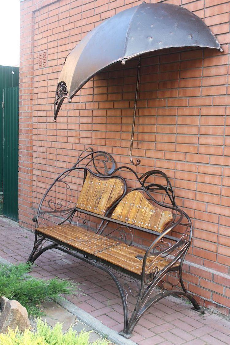 Gartendeko aus metall 17 vielf ltige ideen mit - Schmiedeeiserne gartenmobel ...
