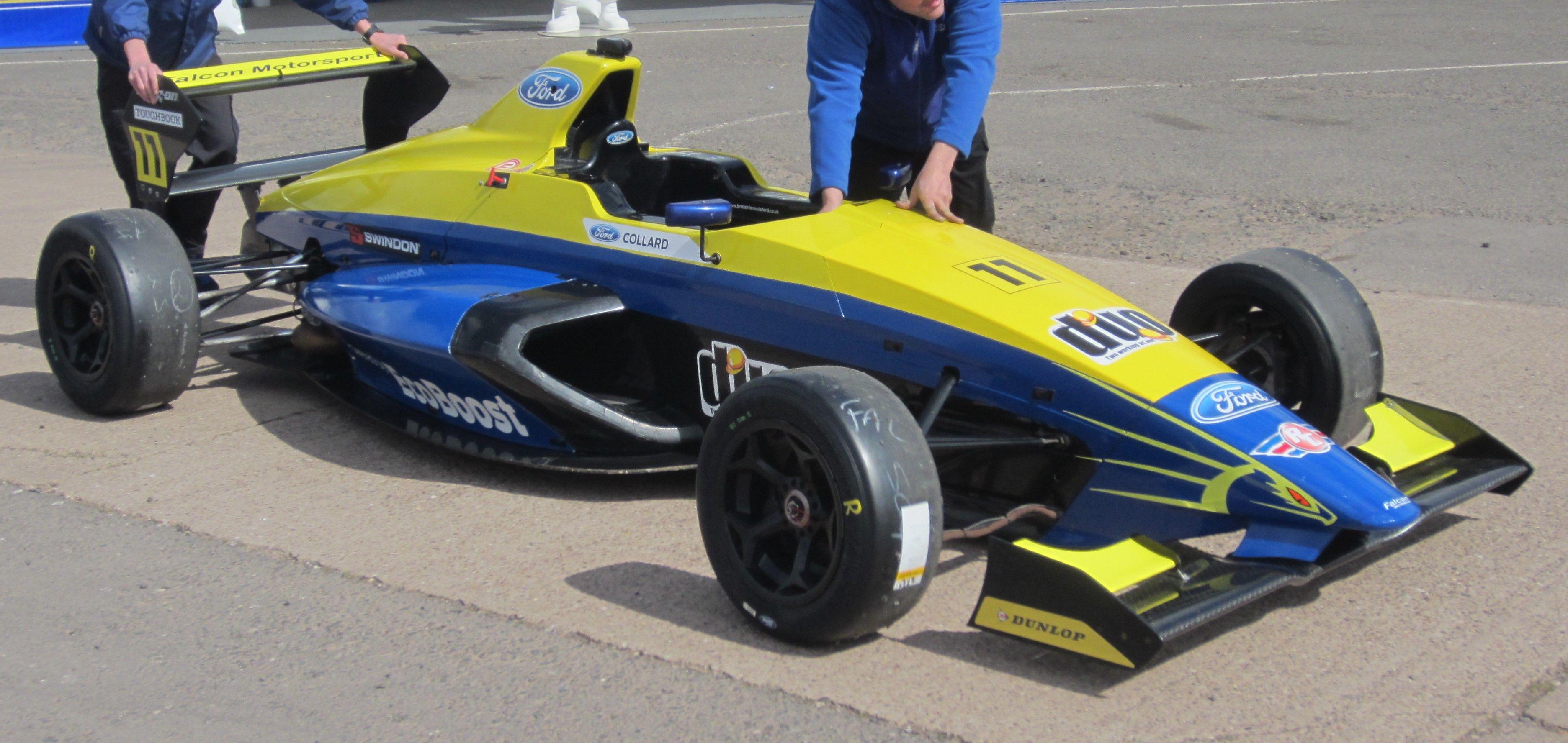 MSA Formula Ford car uses 1600cc Ford EcoBoost turbocharged engine