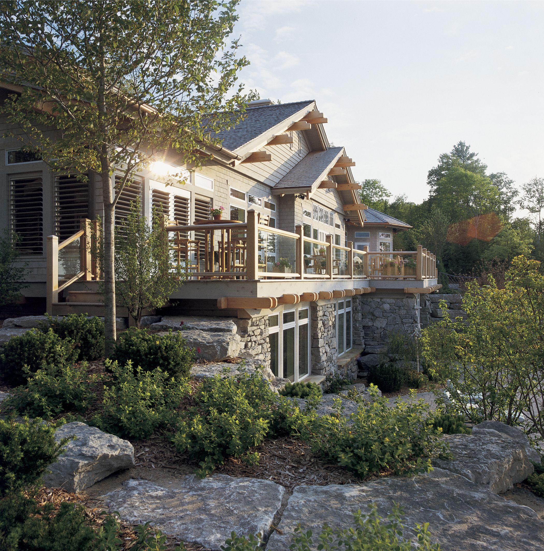 Harbor House Pool: Timber Style Hybird Homes