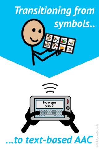 Transitioning From Symbols To Text Based Aac Aac Literacy