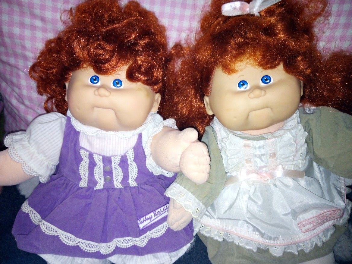Talking Cabbage Patch Kids Red Heads 1987 Cabbage Patch Kids Dolls Cabbage Patch Kids Patch Kids