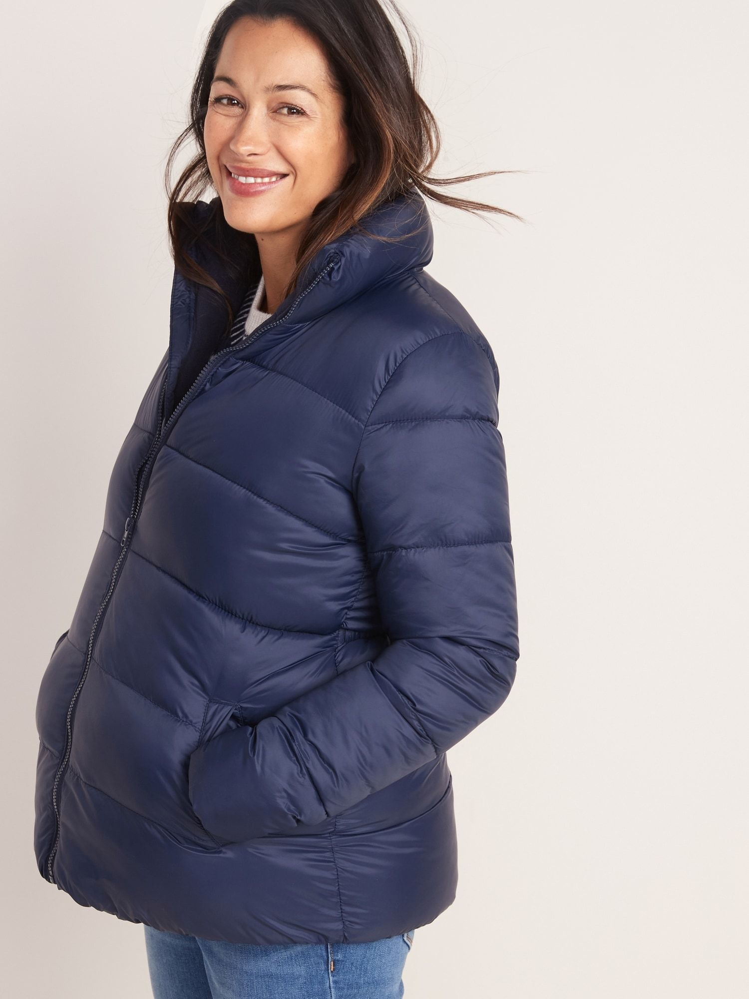 Maternity Frost Free Puffer Jacket Maternity Jacket Old Navy Puffer [ 2000 x 1500 Pixel ]