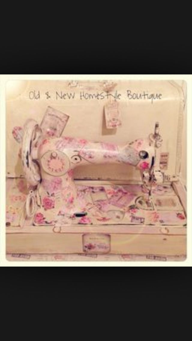 Painted sewing machine