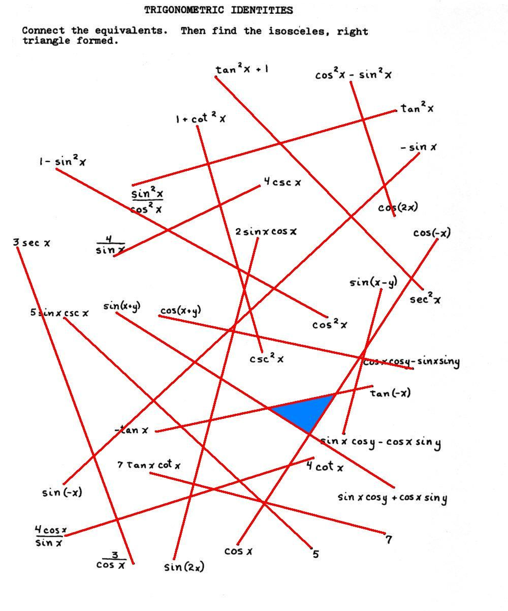 Connect the Dots Trig Identities Puzzle | Studying math ...