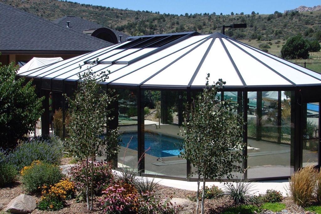 Arizona Pool Enclosure Built By Greenhouses Etc Pool Enclosures Indoor Outdoor Pool Swimming Pool Enclosures