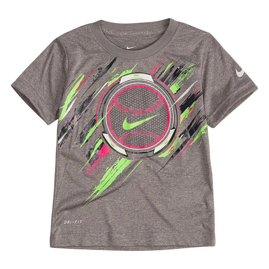 538f60c0 Toddler Boy Nike Baseball Dri-FIT Graphic Tee, Size: 2T, Grey in ...