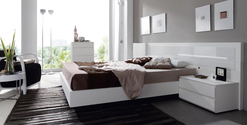 Dormitorio moderno blanco inspiraci n de dise o de for Diseno dormitorios modernos
