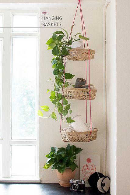 DIY Hanging Baskets Www.apairandasparediy.com By Apairandaspare, Via Flickr