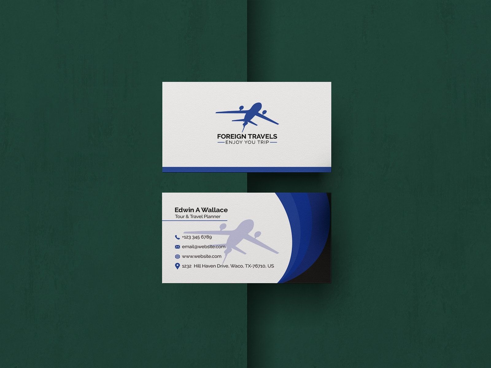 Travel Agency Business Card Design Template Agency Business Cards Business Card Template Design Business Card Design