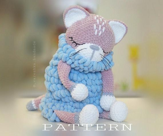 PATTERN Cat crochet Amigurumi tutorial PDF Сrochet amigurumi pattern animal Big Cat pattern pdf Amigurumi making Lovey pattern Sleepy toy #amigurumitutorial
