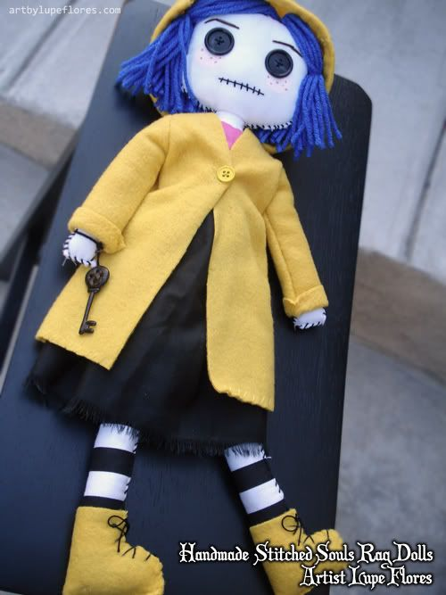 Coraline Rag Doll Boneca Coraline Molde Boneca De Pano Bonecas De Pano