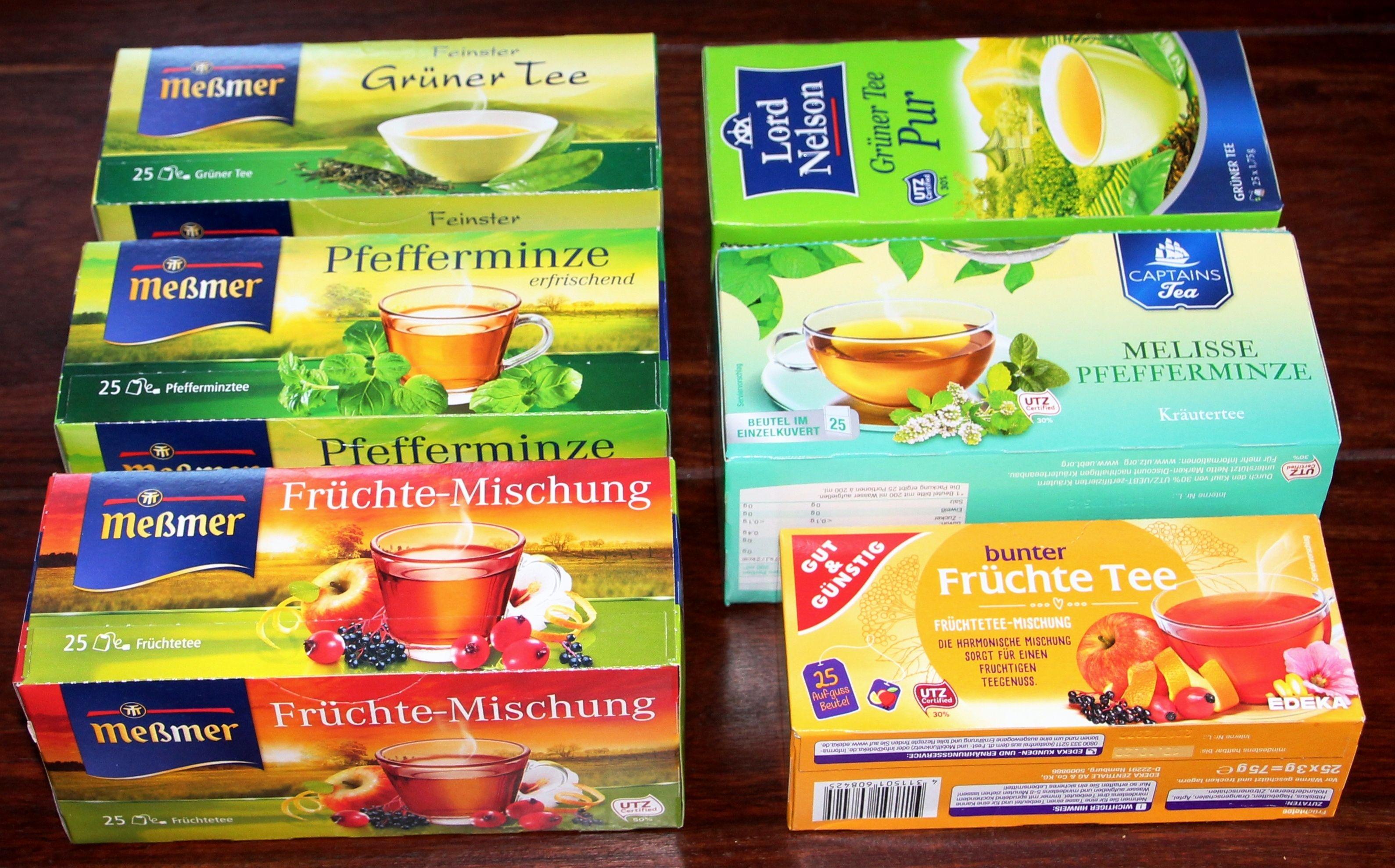 So Kosten 25 X 2 25 G Pfefferminz Oder Gruner Tee Von Messmer Bei