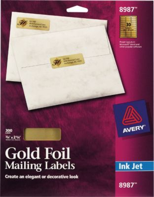 Staples Has The Avery 8987 Gold Foil Inkjet Return Address Labels 3