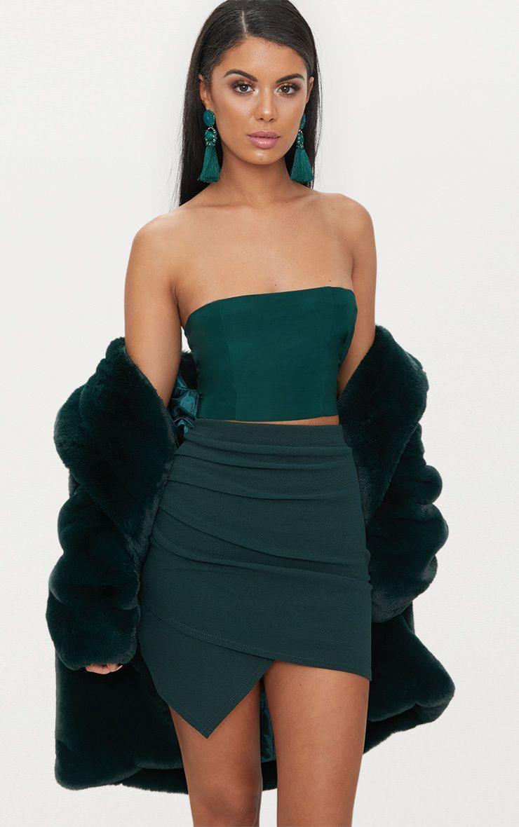 7e03f6876 Emerald Green Cheap Clothes, Cheap Dresses, Layered Jewelry, Skirt Outfits,  Party Outfits