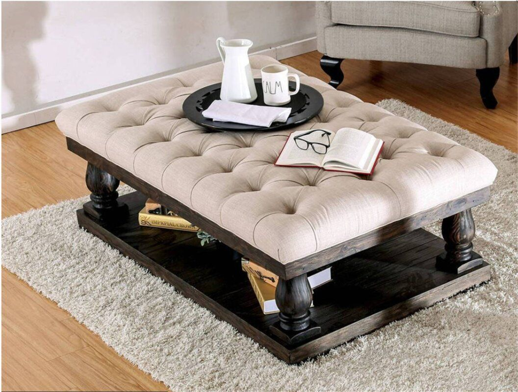 Ruggles Coffee Table With Cushion Top Fabric Coffee Table