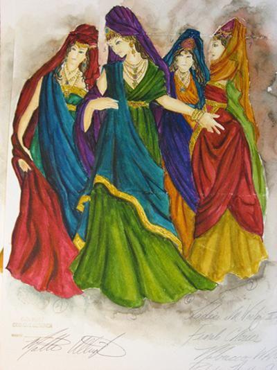 Chapter 7- Nabucco Babylonian Women costume sketch by ...