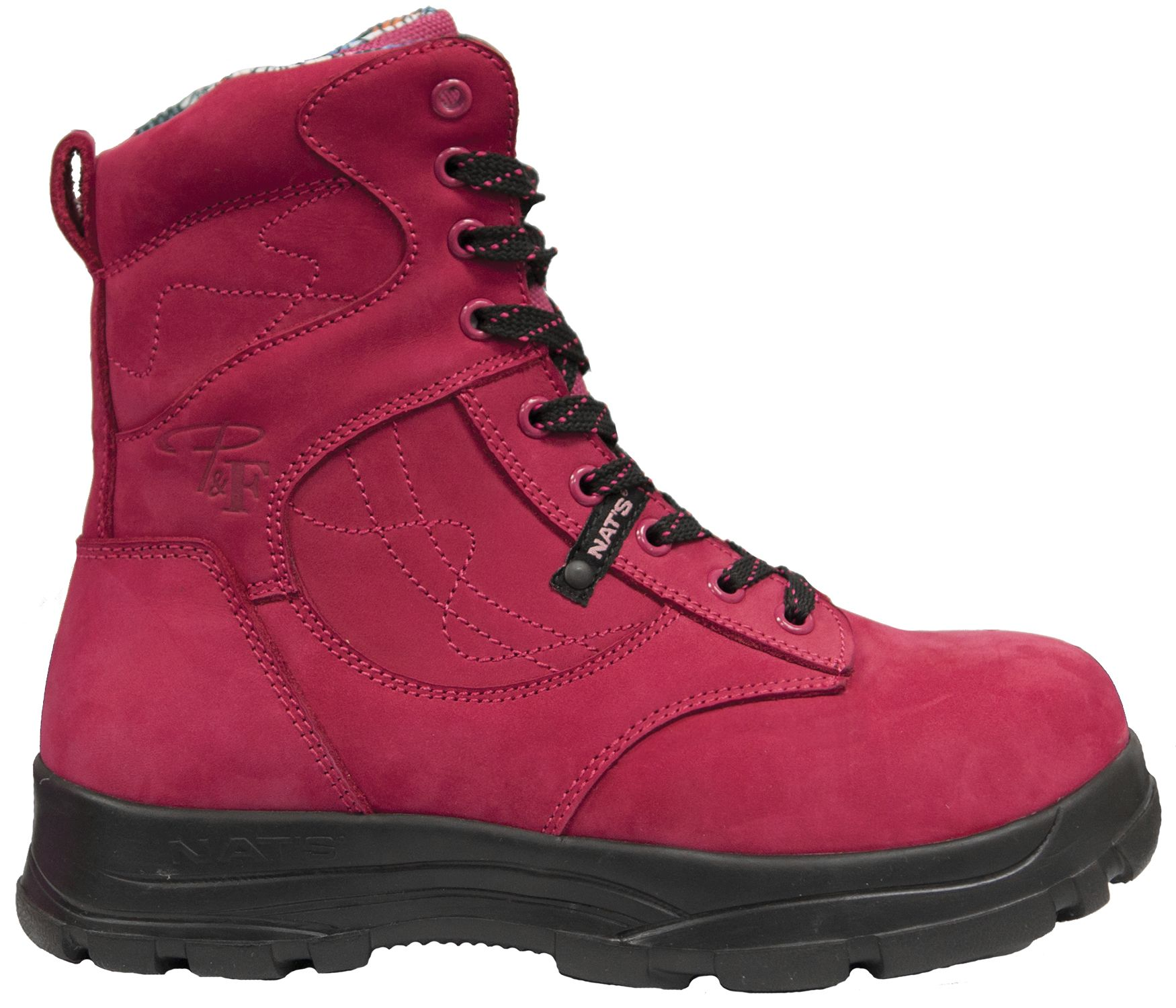 8 Inch Ultra Light Work Boot With Steel Toe Raspberry Boots Light Work Boots Work Boots