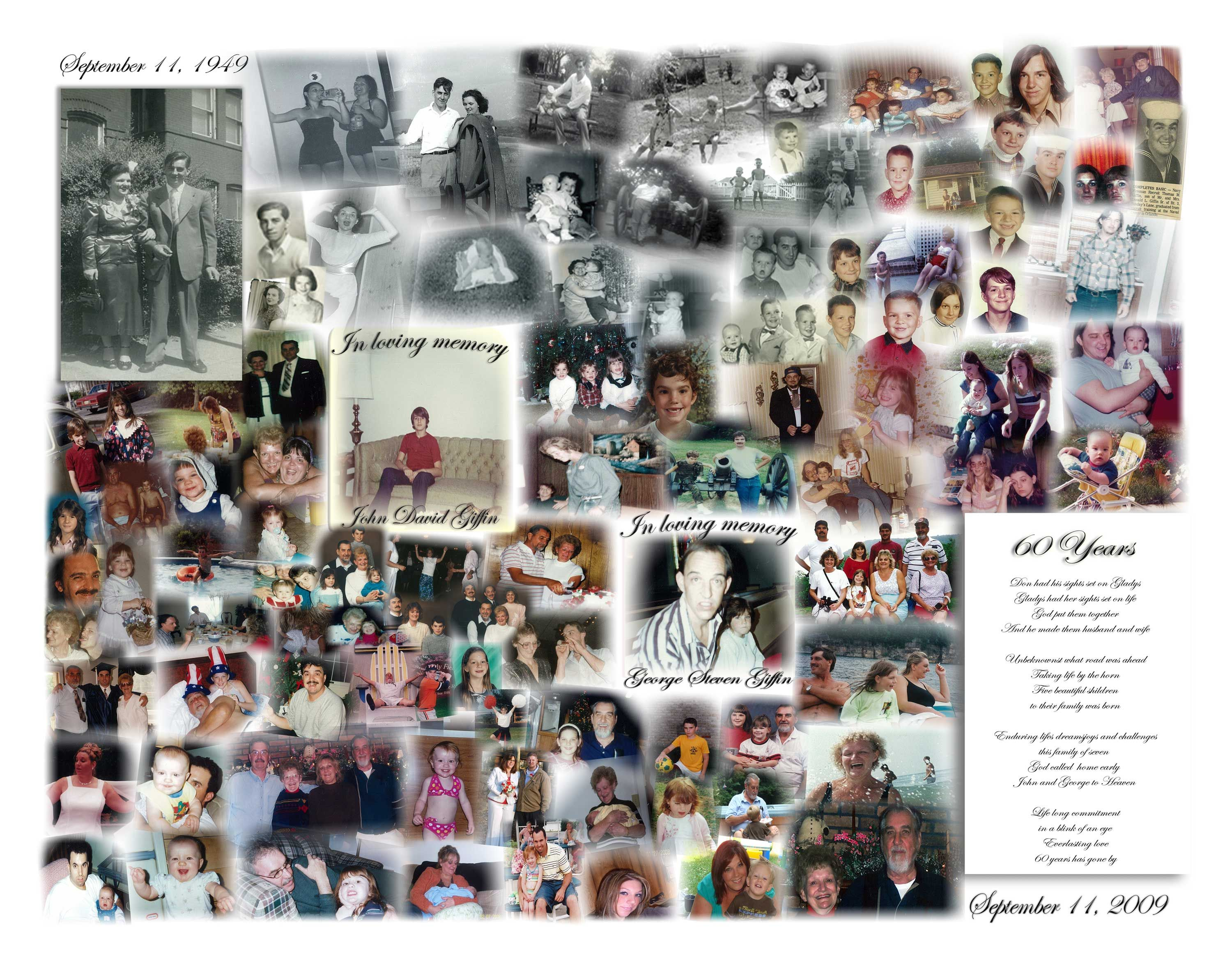 photo collage for my grandparents 60th wedding anniversary my