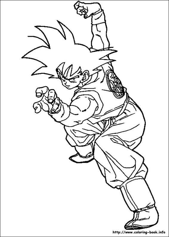 dragon ball z coloring picture - Dragon Ball Goku Coloring Pages