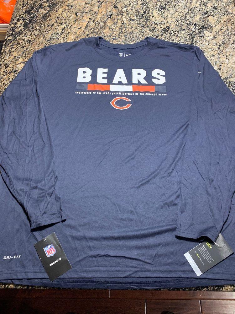 reputable site c8408 a1f6e Nike Chicago Bears Dri Fit Training Shirt Size 3XL 840976 ...