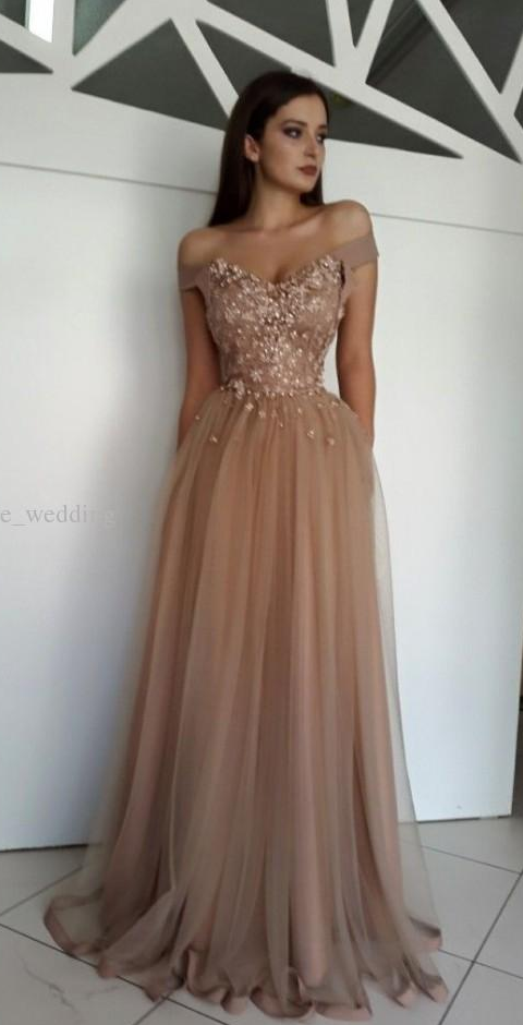 Evening Dresses with Flowers