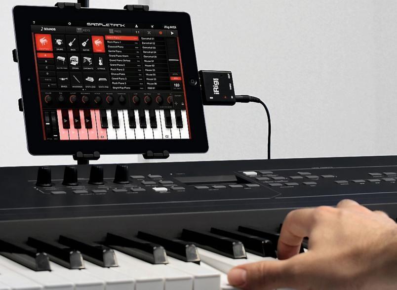MIDI-ADAPTER: Med dette adapteret kan du koble opp dine eksisterende MIDI-kompatible enheter til iPad.=