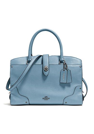 Coach Grain Leather Mercer 30 Satchel Available Belk Now