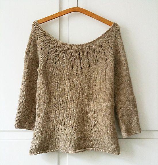 Simple Sweater Free Pattern Knitting Sweaters Pinterest