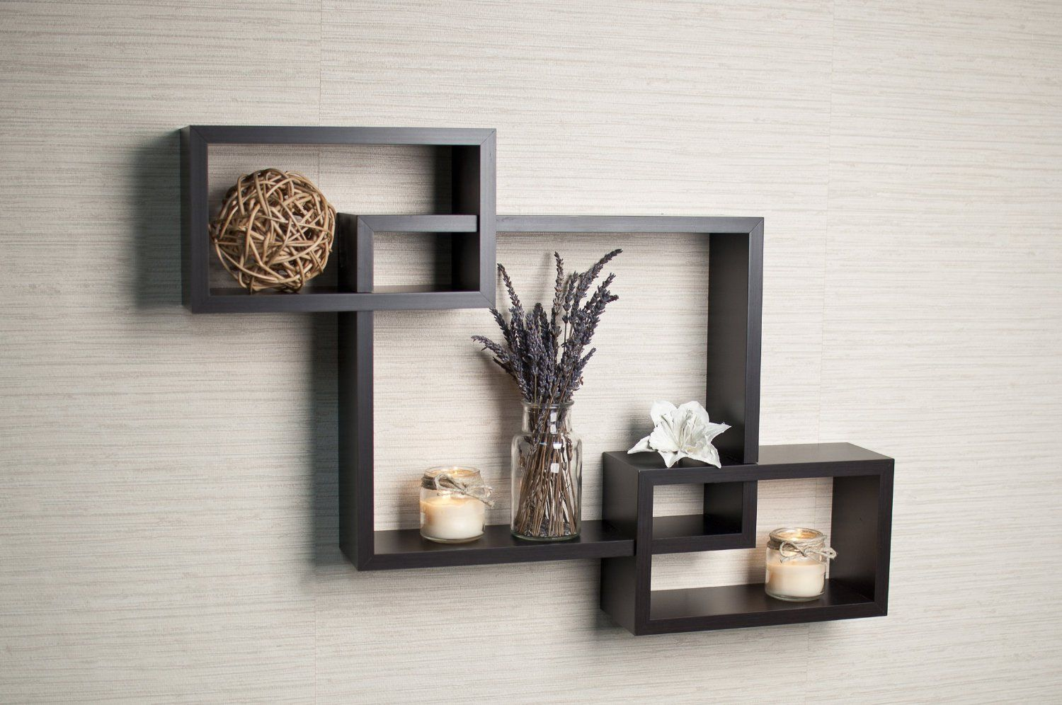 Danya B Intersecting Boxes Espresso Color Wall Shelf Insider S Special Review You Can T Miss Read Wall Shelf Decor Modern Wall Shelf Wall Shelves Design