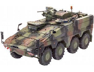 The Revell 1/72 German GTK Boxer FuFz A1 Model Kit from the plastic military model kits range accurately recreates the real life German multi-role armoured fighting vehicle.