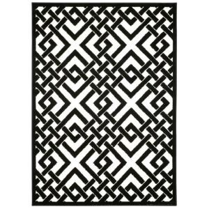 Nourison Overstock, Ultima Ivory/Black 7 ft. 6 in. x 9 ft. 6 in. Area Rug, 278272 at The Home Depot - Mobile