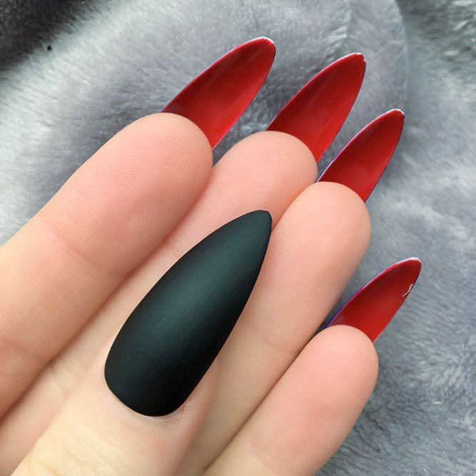 Fantastic Ideas For Your Pointy Nails | NailDesignsJournal