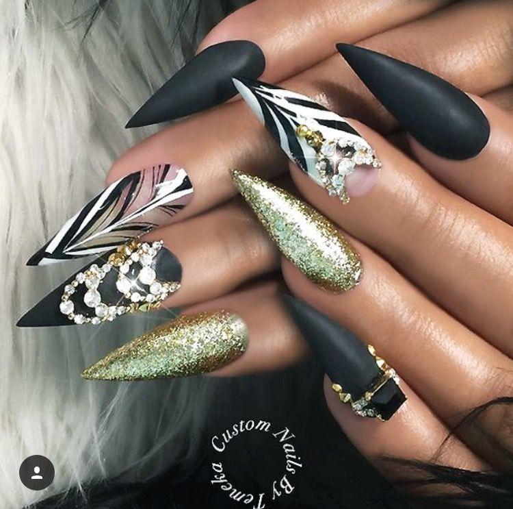 Pin by Anita Roa on girlies | Pinterest | Sexy nails, Bling nails ...