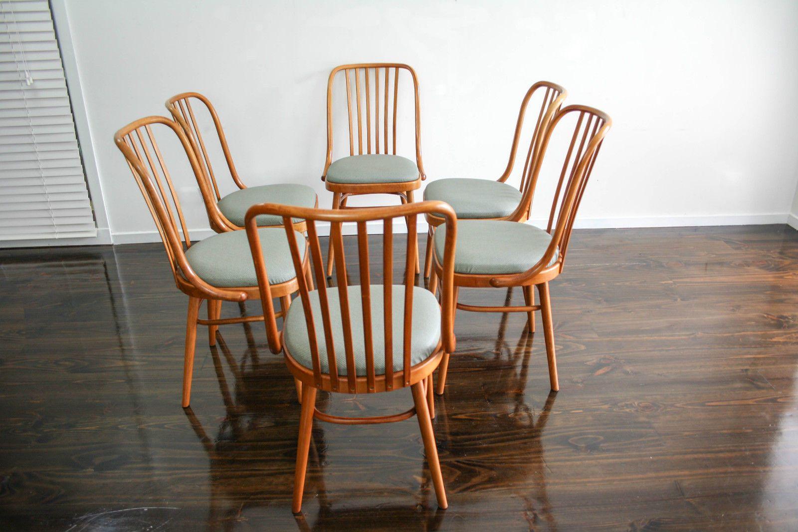 Set Of 6 Ligna Drevounia Dining Chairs