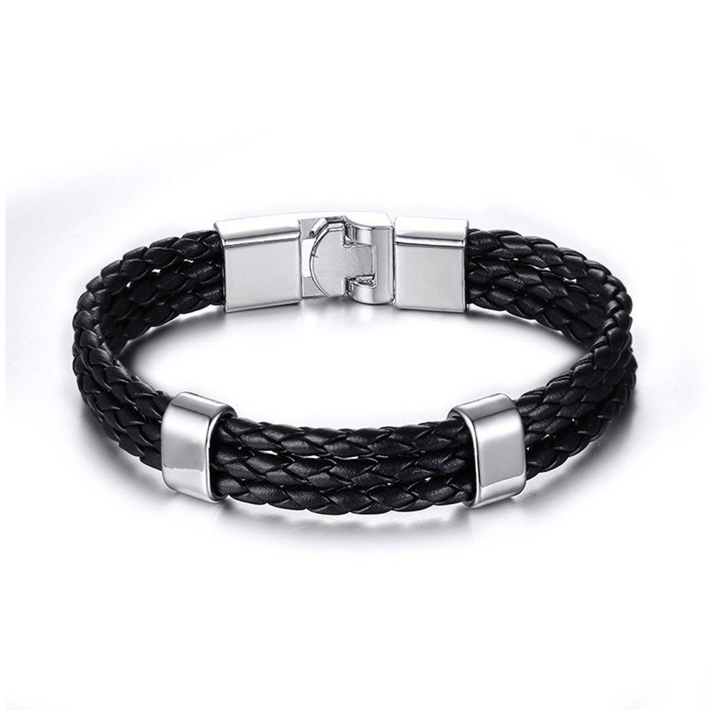 SammyDress Rosewholesale Punk Fashion Leather Menus Bracelet