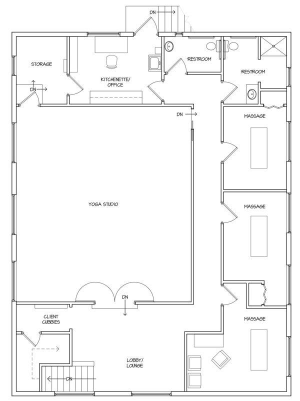 Https Thespaceabove Files Wordpress Com 2007 09 Floorplan6x8 Jpg Studio Floor Plans Yoga Studio Design Floor Plans