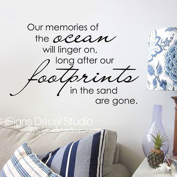 Wall Decals Beach Theme Decals Love Wall Decals Love Quotes - Wall decals beach quotes