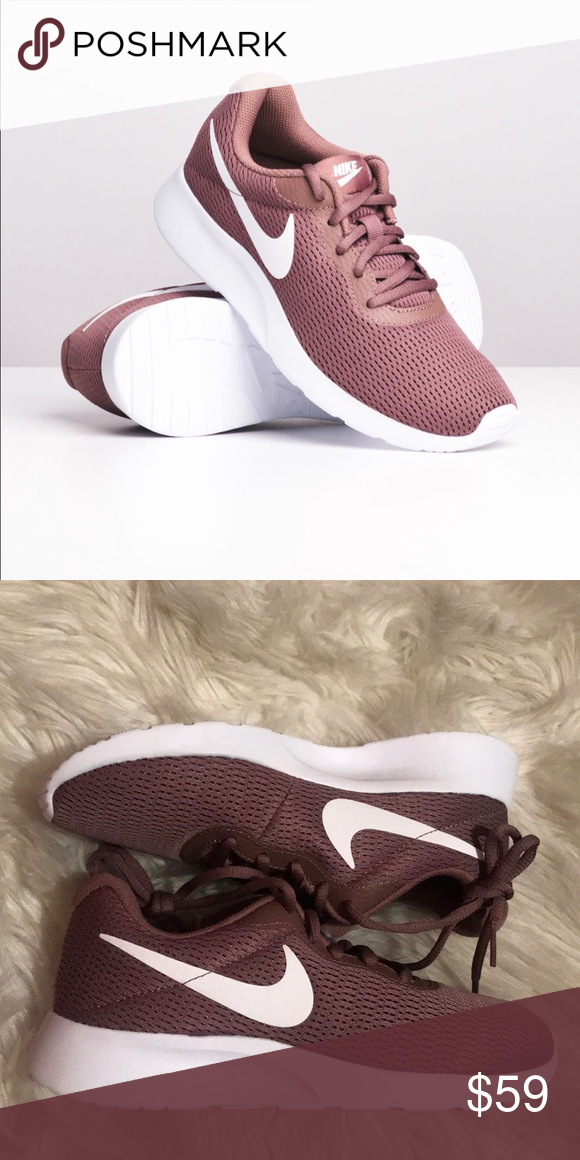 Nike tanjun Women's Shoes mauve white