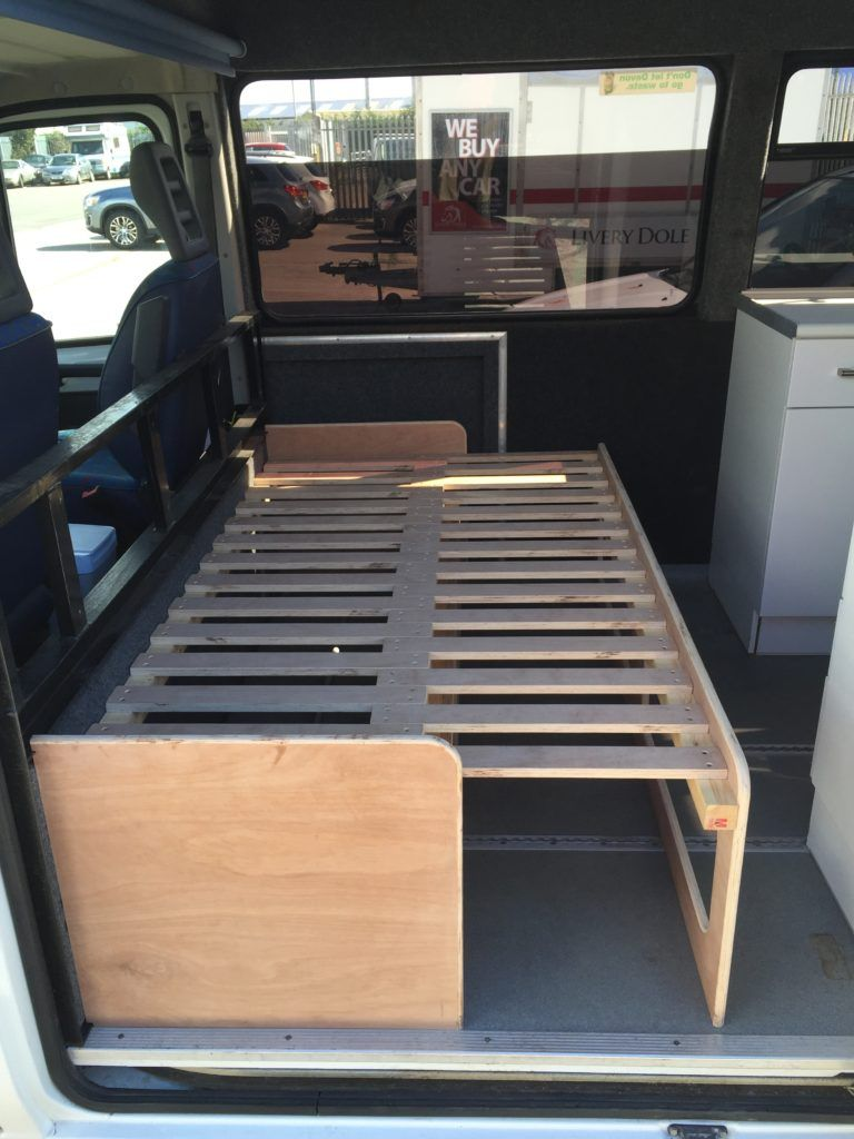 Pin By Tanner Morris On Van Couch Bed Storage Camper