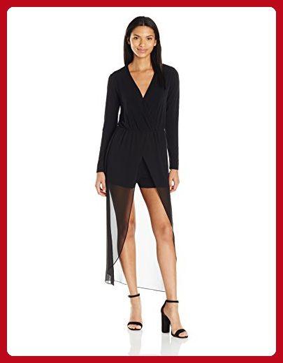 BCBGeneration Women's Overlay Skirt Romper, Black, X-Small - All about women (*Amazon Partner-Link)