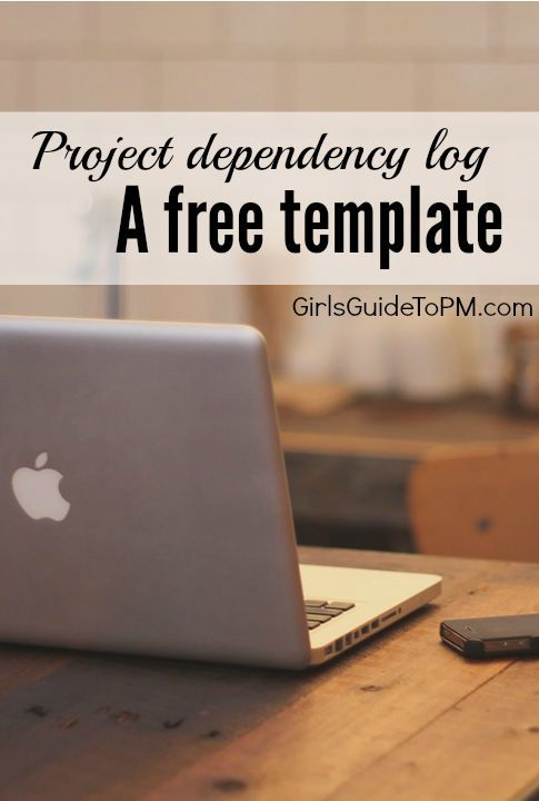 Free Template Project Dependency Log  GirlS Guide To Project