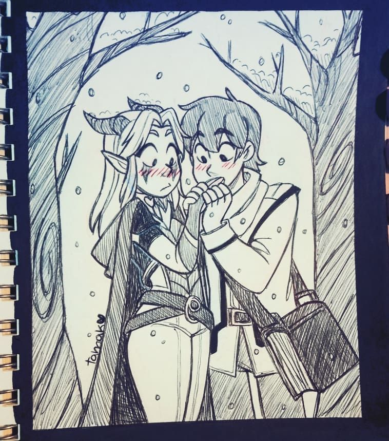 Rayla and Callum Day 3 Freeze inktober drawing