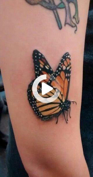 Tattoo butterfly color beautiful 64 ideas #tattoo | Monarch butterfly
