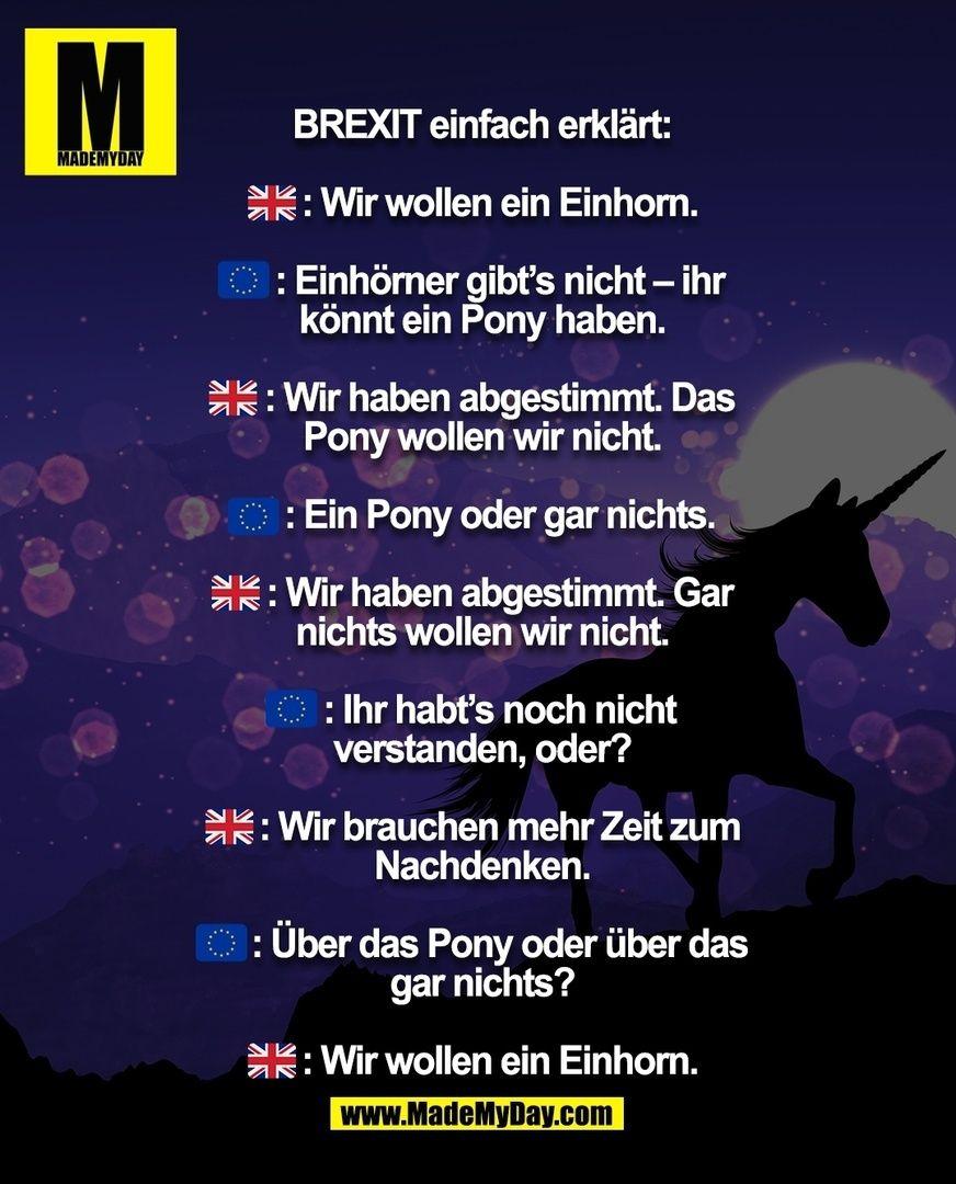 Photo of #mmd #mademyday #brexit #einhorn #unicorn #einfacherkl