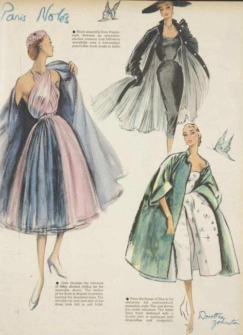 Paris fashion notes, October 1951   Vintage Fashion   Pinterest ...