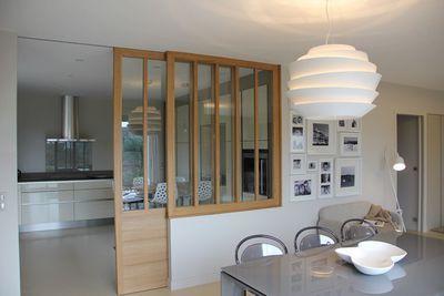Verrière d\'intérieur pour cuisine | Decorating kitchen, Kitchens ...