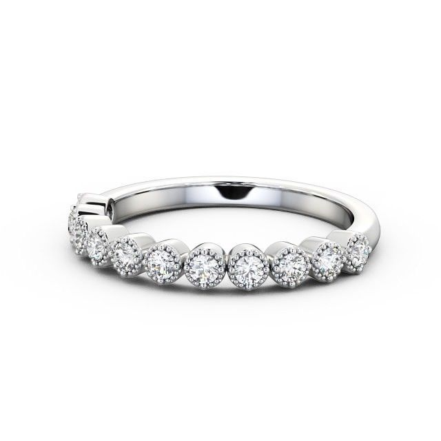 Milgrain IGI Certificate Round Diamond Half Eternity